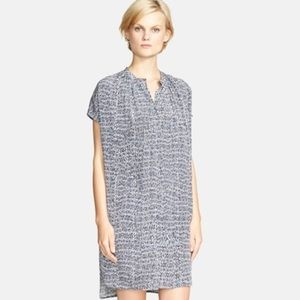 Vince 100 percent silk static print short dress